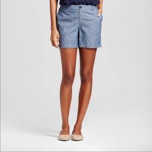 NWT Merona Chambray Shorts - size 6
